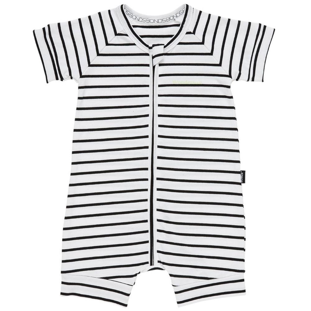 4ebf02b27137 Bonds Zip Romper Wondersuit BXNMA Black Stripes Baby Cloth