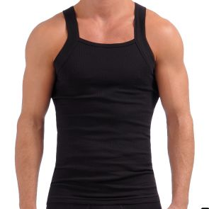 2xist Essentials Square Cut Tank Top 3127 Black