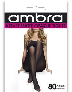 Ambra Velvet Matte Tight VEM80TI Black Multi-Buy