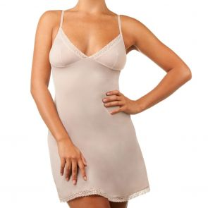 Bassoni Lace Trimmed Slip 9012SL-LT Almond