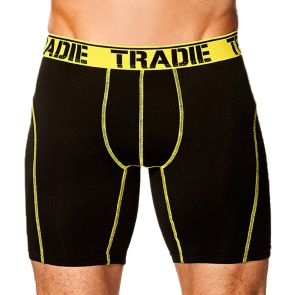 Tradie No Chafe Long Leg Trunk MJ1197WK Black/Yellow