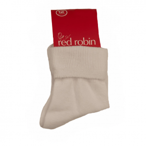 Red Robin Delight Turnover Socks White R10091