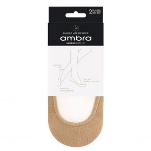 Ambra Bamboo Ecostyle Footlets 2-Pack ABAECFT2PP Natural Multi-Buy