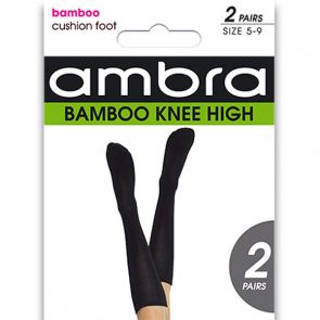Ambra Bamboo Knee-High 2-Pack ABAMKHCF Black Multi-Buy