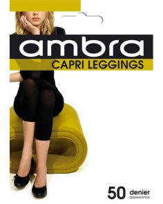 Ambra Capri Footless Tight/Legging CAPTI Black Multi-Buy