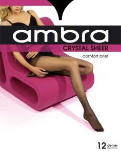 Ambra Crystal Sheer Classic Pantyhose CRYSHPH Almost Black Multi-Buy