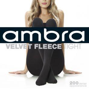 Ambra Velvet Fleece Tight 200 Denier AMVELFLCTI Black