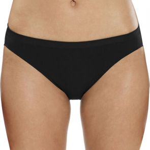 Ambra Microfibre Seamless Singles Cheeky Hipster AMSSMFCH Black