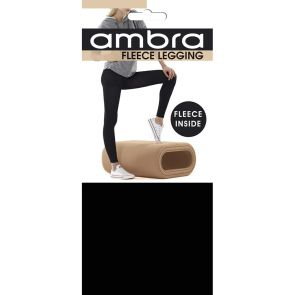 Ambra Fleece Opaque Leggings AMTRACKLEG Black Multi-Buy
