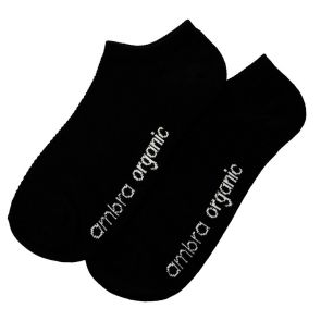 Ambra Organic Cotton Mesh Top Low Cut Socks 2-Pack AORGCMTLC Black Multi-Buy