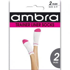 Ambra Trainer Liner Socks ATRL2P Pink Multi-Buy