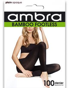 Ambra Organic Bamboo Footless Tights BAMFT Black Multi-Buy