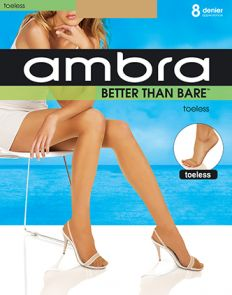 Ambra Better Than Bare No Toe Pantyhose BETNTPH Natural Bisque Multi-Buy