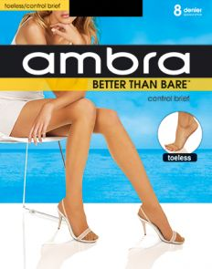 Ambra Better Than Bare No Toe Control Brief Pantyhose BETBNTCON Natural Bisque Multi-Buy