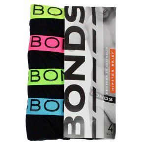 Bonds Mens Hipster Brief 4-Pack M38DM4 Multi