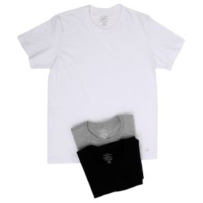Calvin Klein Cotton Classic S/S 3 Pack Crew Neck Tee BU4001 Black/White/Grey
