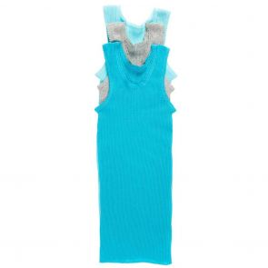Bonds Baby Vest 3-Pack BXHNW Turquoise and Grey