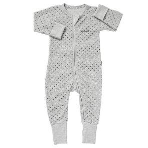 Bonds Baby Zip Wondersuit Poodelette BZJSM New Grey Marle/ Admiral Jess Spot