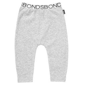 Bonds Stretchies Solid Legging BZMW New Grey Marle/White