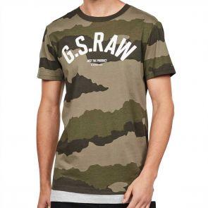 G-Star Raw Graphic 13 T-Shirt D15247 Shamrock Asfalt