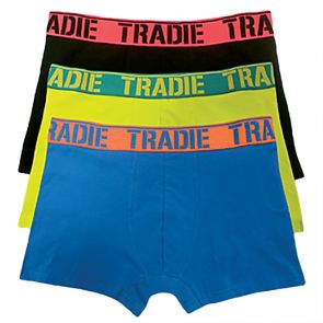Tradie 3 Pack Fitted Trunks MJ1194WK3 Dynamite