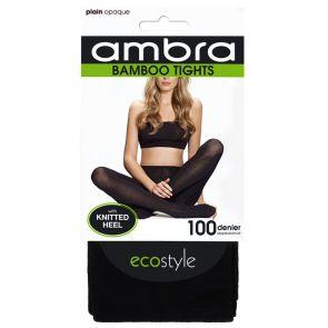 Ambra Organic Bamboo Tights BAMPT Black Multi-Buy