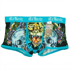 ED HARDY Skull and Roses Trunk EH70823TK Blue