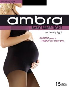 Ambra 15D Baby Bump Tight ABABU Black Multi-Buy