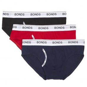 Bonds Guyfront Briefs 3-Pack MZ953A Black/Navy/Red