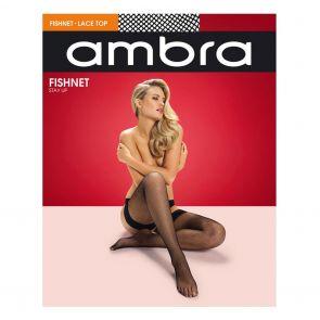 Ambra Fishnet Stay Up FISNTSU Black Multi-Buy