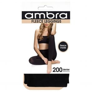 Ambra Fleece Opaque Leggings AMTRACKLEG Black Multi-Buy