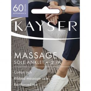 Kayser Cotton Rich Low Cut Anklet Massage Sole H10218 Nude