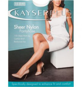Kayser Plus Sheer Nylon Pantyhose H10840 Almond Multi-Buy