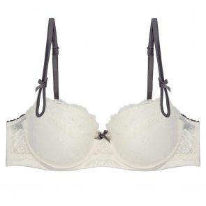 Heidi Klum Intimates Zoe Contour Balconette Bra H23-1060 Retro Cream/Slate Grey