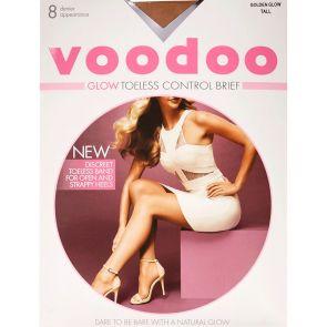 Voodoo Glow Toeless Control Brief Sheers H30558 Golden Glow Multi-Buy