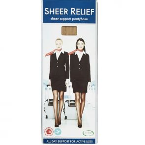 Sheer Relief Support Pantyhose H32800 Ink Navy Multi-Buy