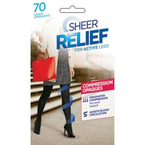 Sheer Relief 70D Opaque Compression Comfort Brief H32803 Black Multi-Buy