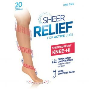 Sheer Relief Sheer Support Knee Hi H33085 Mini Beige Multi-Buy