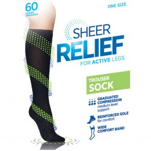 Sheer Relief Trouser Sock H33087 Mini Beige Multi-Buy