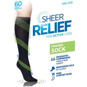 Sheer Relief Cotton Sole Trouser Sock H33087 Mini Beige MULTIBUY