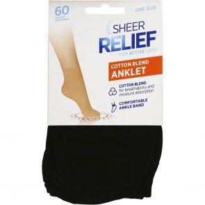 Sheer Relief Cotton Blend Anklets H33096 Black Multi-Buy