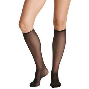Razzamatazz Perfecting Reinforced Toe Knee High 2 Pack H80014 (*Ex. Silken Feel) Black Multi-Buy