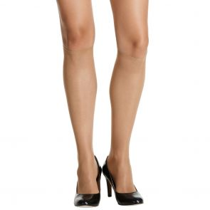 Razzamatazz Perfecting Reinforced Toe Knee High 2 Pack H80014 (*Ex. Silken Feel) Natural