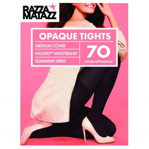 Razzamatazz 70D Perfectly Matte Opaque Tights Firm Slimming H80022 Black Multi-Buy