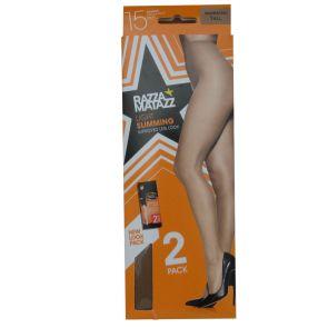 Razzamatazz Control Brief Pantyhose 2-Pack H80033 Tan Multi-Buy