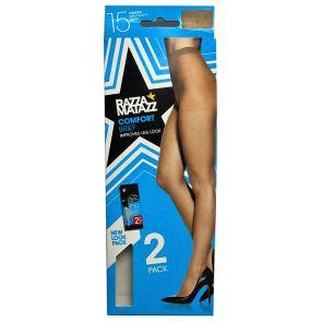 Razzamatazz Regular Brief Pantyhose 2-Pack H80034 Tan Multi-Buy