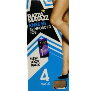 Razzamatazz Pairs & Spares Knee-High 4-Pack H80042 Natural Multi-Buy
