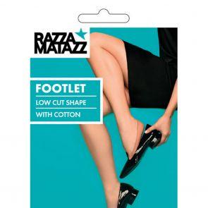 Razzamatazz Seamless Footlet H80054 Black Multi-Buy