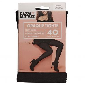 Razzamatazz 40D Comfort Brief Opaque Tights H80077 Black Multi-Buy