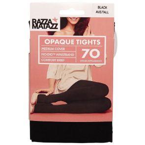 Razzamatazz 70D Opaque Tights Comfort Brief H80078 Black Multi-Buy